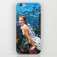 kate moss iPhone & iPod Skins featuring Kate Moss by John Turck