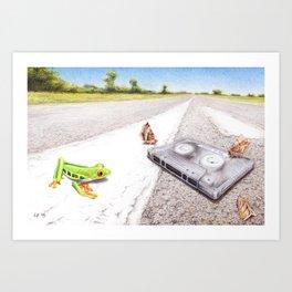 Bygones by Lars Furtwaengler   Colored Pencil   2015 Art Print