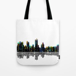 Fort Worth Skyline BW1 Tote Bag