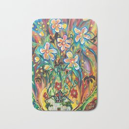House in Bloom Bath Mat