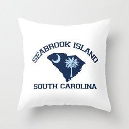 Seabrook Island - South Carolina. Throw Pillow