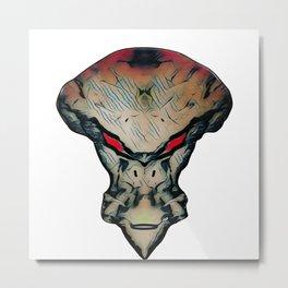 alien with red eyes Metal Print