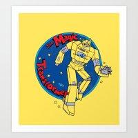 transformer Art Prints featuring The Magic Transformer by Skylar Hogan
