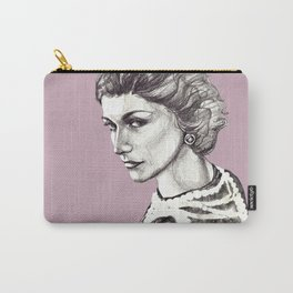 Coco portrait with pearls Carry-All Pouch