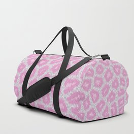 Snow Leopard style - Silver Pink Duffle Bag