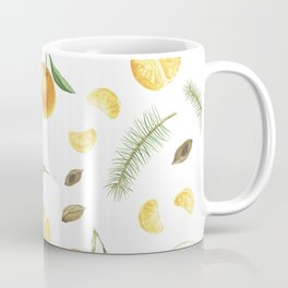 Tangerines, spices and branches of tree Coffee Mug