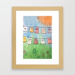 Dresses in the Sun Framed Art Print