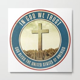 In God We Trust Metal Print