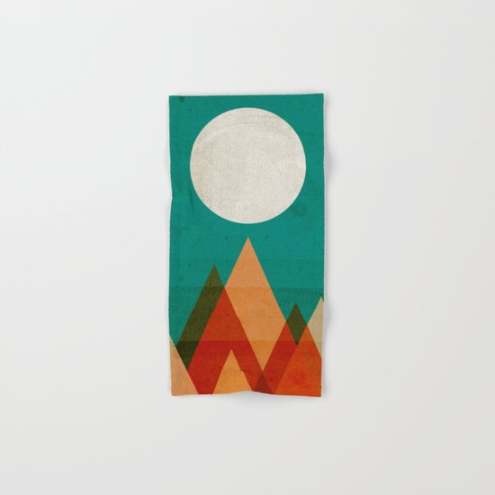 Full moon over Sahara desert Hand & Bath Towel