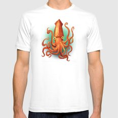 Giant Squid LARGE White Mens Fitted Tee