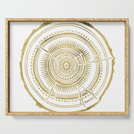 Quaking Aspen – Gold Tree Rings Serving Tray