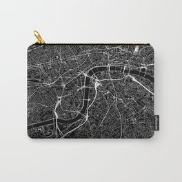 London Black Map Carry-All Pouch