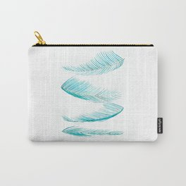 falling palm leaves watercolor Carry-All Pouch