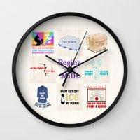 """regina mills Wall Clocks featuring Regina """"Sassy"""" Mills by CLM Design"""