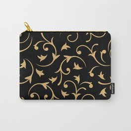 Baroque Design – Gold on Black Carry-All Pouch
