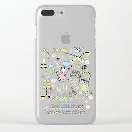 3 Little Kittens Clear iPhone Case