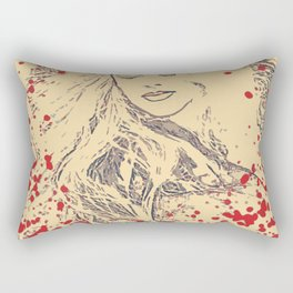Splatter Beauty Rectangular Pillow