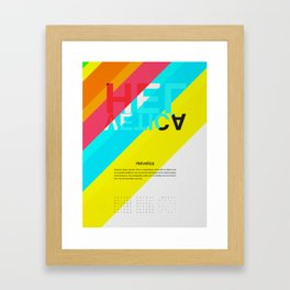 Helvetica   Types of People Framed Art Print
