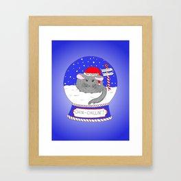 Chin-Chillin' Christmas Framed Art Print