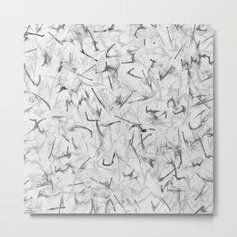 Black and White Electric Marble Metal Print