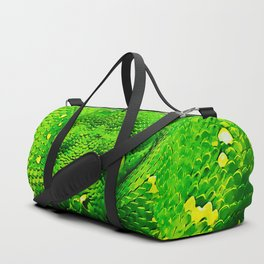 green tree python snake splatter watercolor Duffle Bag