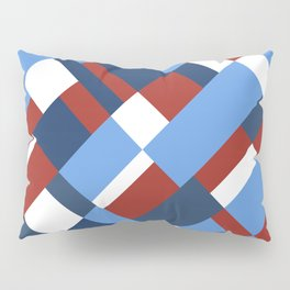 Map 45 Red White and Blue Pillow Sham