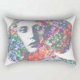 Flower lady Rectangular Pillow
