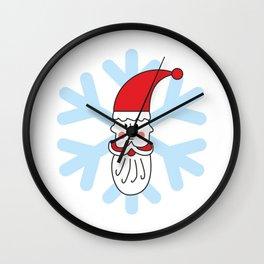 Christmas coming soon. Believe in Santa Clause. Believe #society6 #decor #buyart #artprint Wall Clock