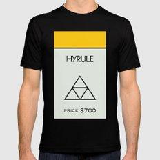 Hyrule Monopoly location Black Mens Fitted Tee MEDIUM