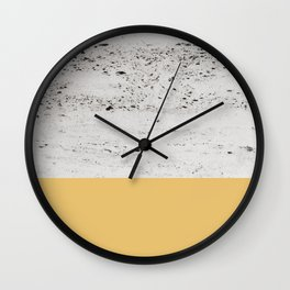 Summer Yellow on Concrete #1 #decor #art #society6 Wall Clock