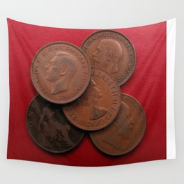 Old Pennies Wall Tapestry