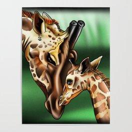 Nurturing Giraffes Poster