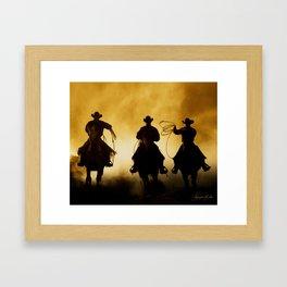Three Cowboys Western Framed Art Print