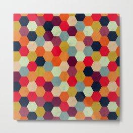 Colorful Beehive Pattern Metal Print