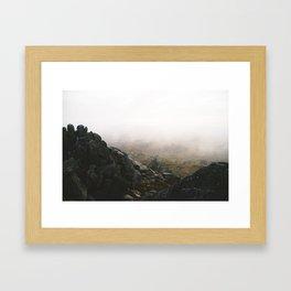Misty Rams Head Framed Art Print