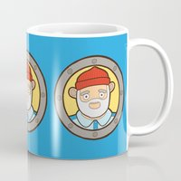 life aquatic Mugs featuring The Life Aquatic by evannave
