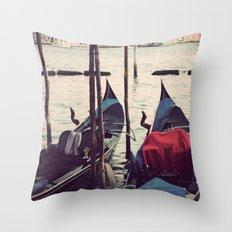 Italian Boat Dock Throw Pillow