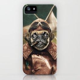 Pete the Pilot Pug iPhone Case