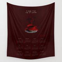 "calendar Wall Tapestries featuring ""Twin Peaks"" 2016 Calendar  by ShaMiLa"