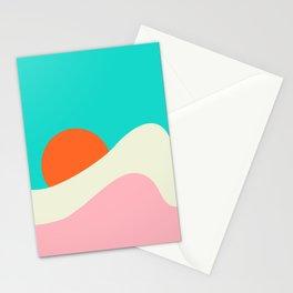 Retro Beach Wave Stationery Cards