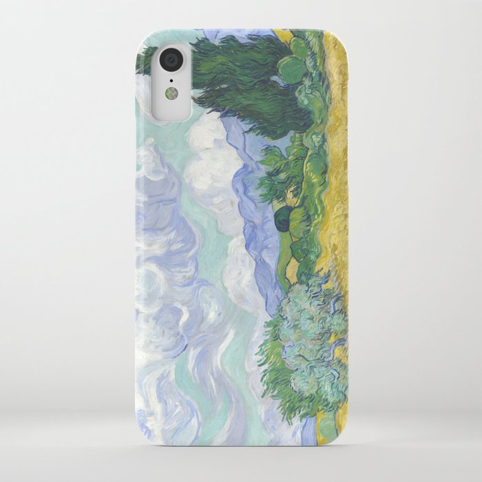 Vincent van Gogh - Wheat Field With Cypresses iPhone Case