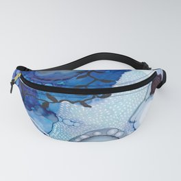 Blue Ocean Botanical Abstract, Carry Me Away Fanny Pack