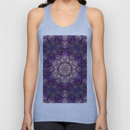 mandala violet and white Unisex Tank Top