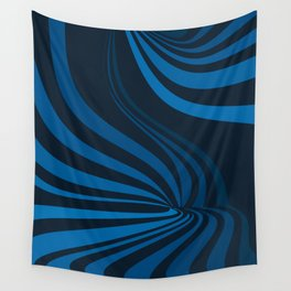 Movement in Blue Wall Tapestry