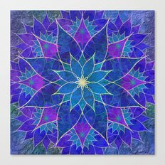 Lotus 2 - blue and purple Canvas Print