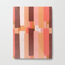 Line In Coral #society6 #abstractart Metal Print
