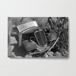 Old, rusted car Metal Print