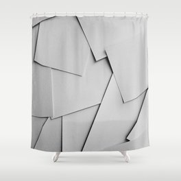 Sheets of Paper Shower Curtain