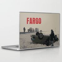 movie poster Laptop & iPad Skins featuring Fargo Movie Poster  by FunnyFaceArt