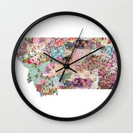 montana map Wall Clock